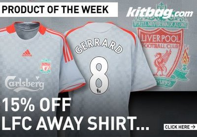 Liverpool away shirt