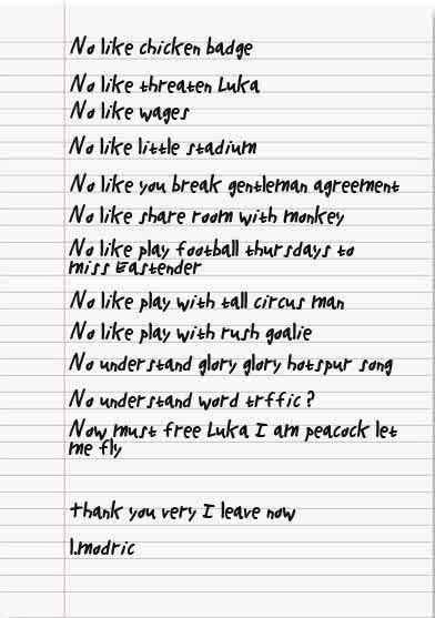 Luka Modric Transfer Request
